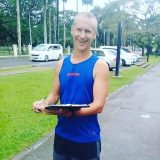 Geoff embarrassing us all as always by turning up in less than ideal weather conditions #suvamarathonclub #suva10k