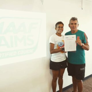 Our Club Secretary Noeline M joins the AIMS Official Road Race Measuring Team 😀 Congrats 🇫🇯🚲🥇 This now gives us 4 official #IAAF #AIMS measure qualified  in our Club