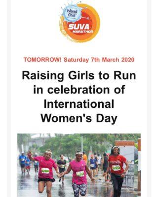 "Join us this weekend for our special Saturday Social run- ""Raising Girls to Run"" in celebration of International Women's Day. Theme : ""Raising Girls to Run"" - WEAR PURPLE Guest Speaker: Come down run/walk and hear from - Runner, athlete, mother to Jasmine @noels_mallam. #IWD2020 #IWD #runFiji #SuvaMarathonClub"
